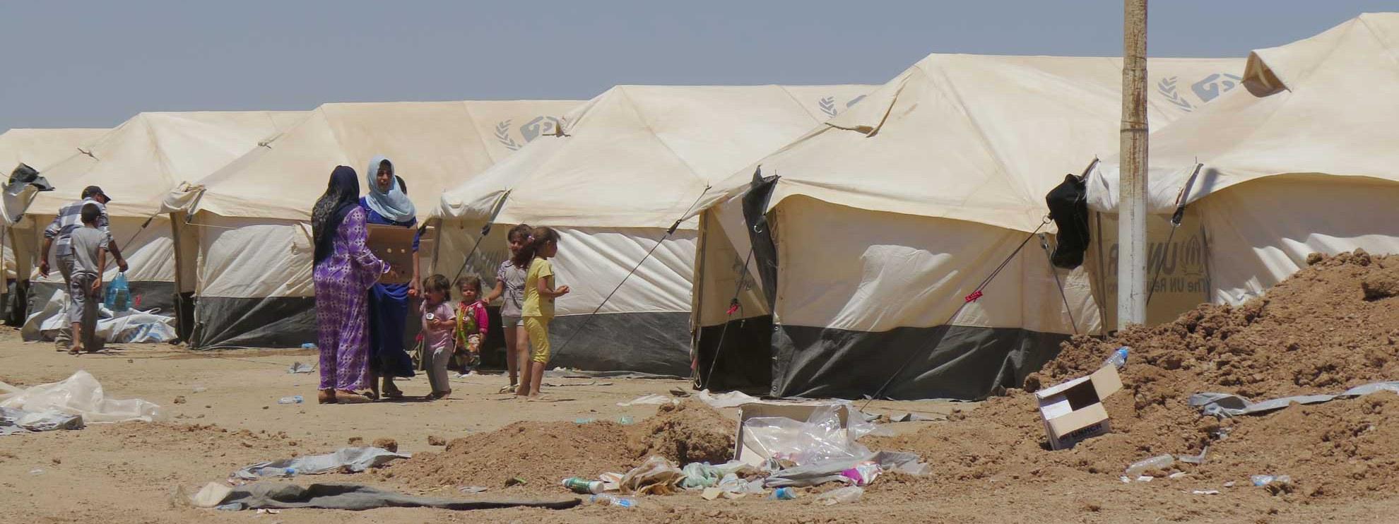 Camp de refugiés à Kalak, Irak. © Amnesty International