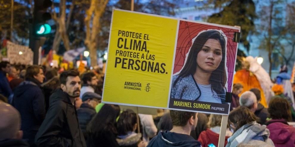 Marche pour le climat à Madrid le 6 décembre 2019. © AI/Adolfo Lujan