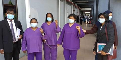 Une manifestation des professionnel.le.s des secteurs essentiels en Malaisie. © AI