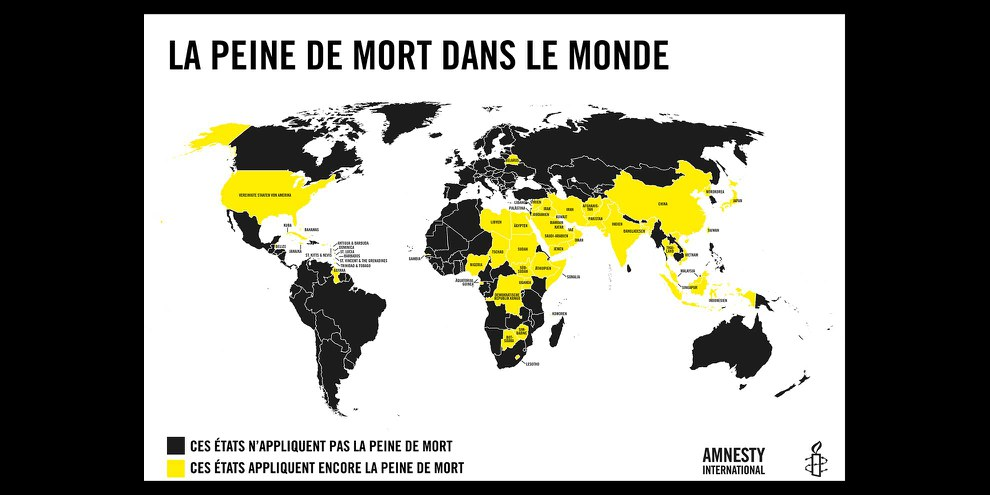 Dans le monde, les pays appliquant la peine de mort sont en diminution. © AI