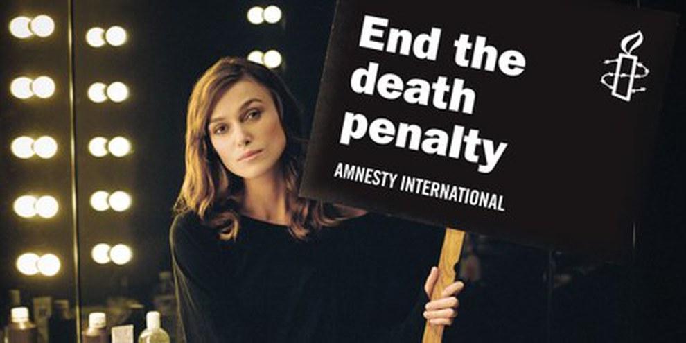 Anche l'attrice Keira Knightley chiede la fine della pena di morte  © AI/Thomas Birkett