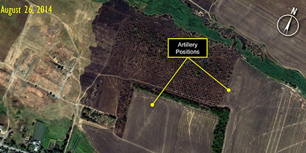 Le immagini raccolte da Amnesty confermano la presenza russa in Ucraina  © Digital Globe for Amnesty International