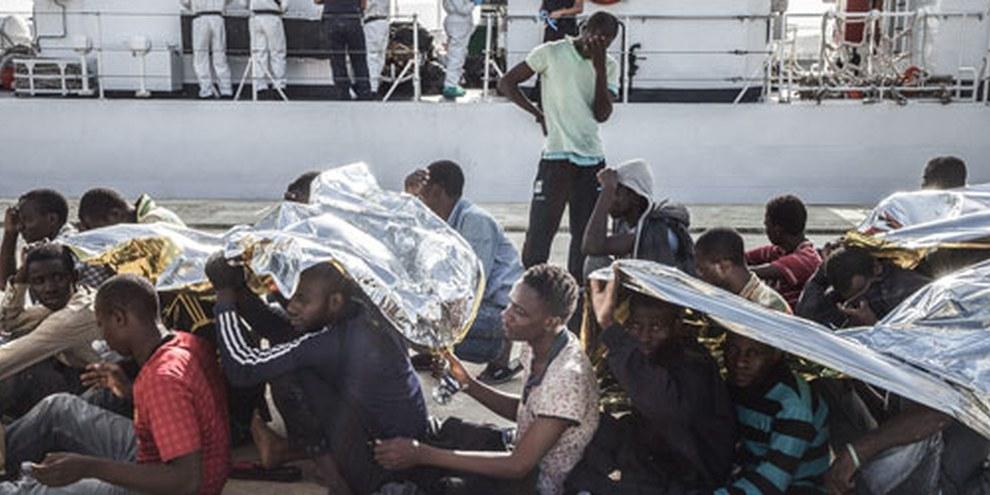 Mediterraneo, il percorso via mare più pericoloso per migranti e rifugiati.© Giles Clarke/Getty Images Reportage