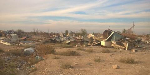 Il villaggio di Maktab Khaled, vicino a Kirkuk, è stato raso al suolo. © Amnesty International