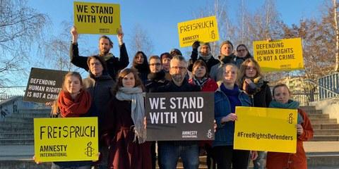 Azione di solidarietà ©Amnesty International